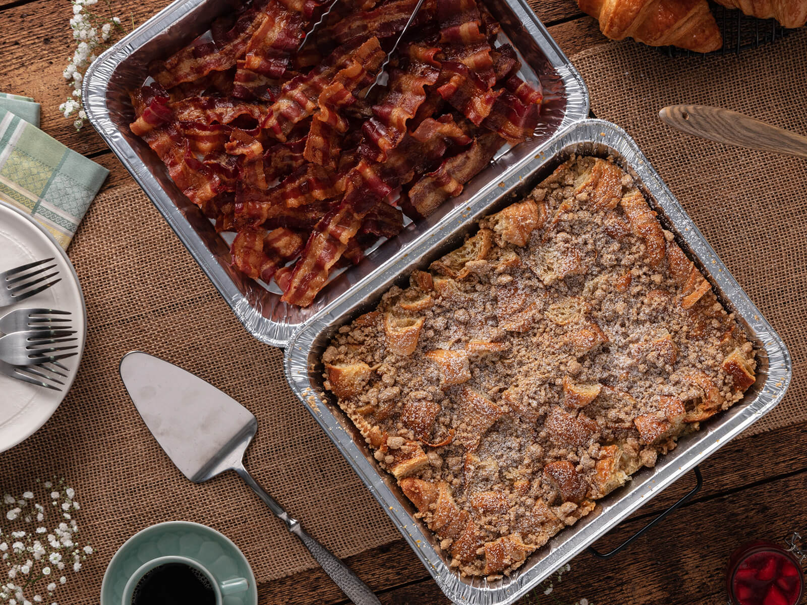 Berry French Toast Bake & Bacon