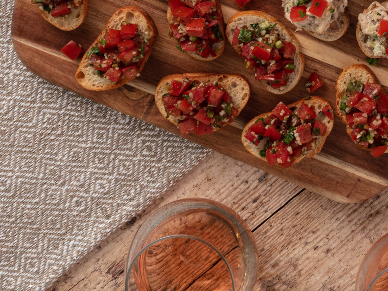 Balsamic Bruschetta and Garlic Crostini