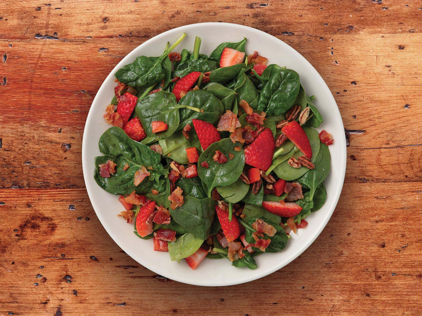 Strawberry & Bacon Spinach