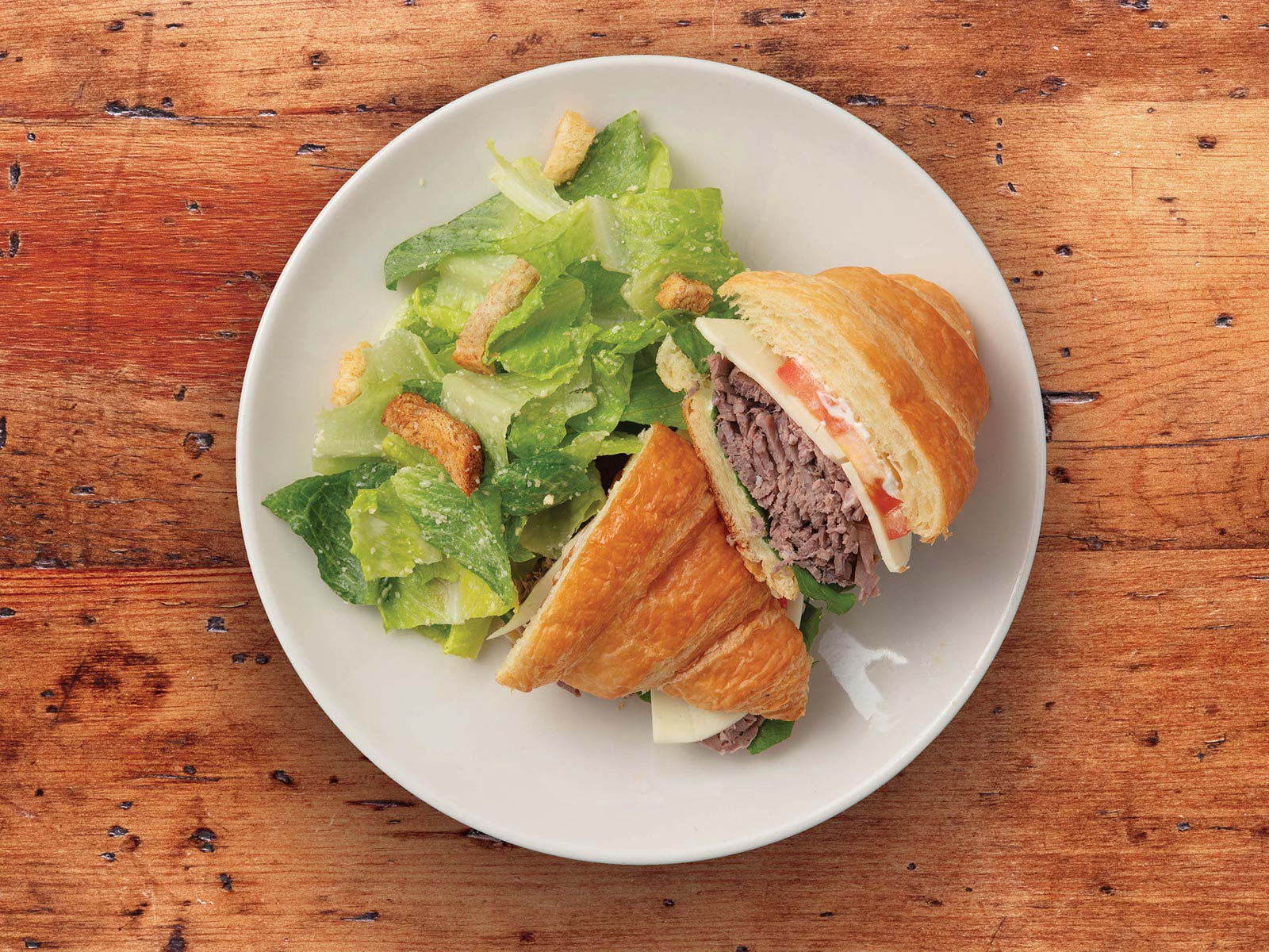 Roast Beef & Cheese Croissant